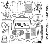 arts and crafts sewing hand... | Shutterstock .eps vector #433355053