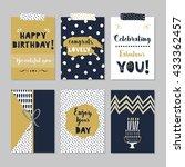 golden and dark navy blue happy ...   Shutterstock .eps vector #433362457