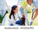 volunteering  charity  people... | Shutterstock . vector #433362493