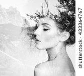 portrait of beautiful sensual... | Shutterstock . vector #433364767