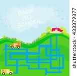 back to school   maze | Shutterstock . vector #433379377
