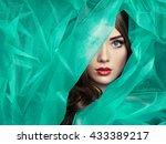 fashion photo of beautiful... | Shutterstock . vector #433389217