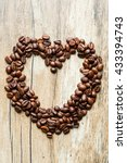 coffee heart on table | Shutterstock . vector #433394743