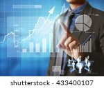 businessman with financial... | Shutterstock . vector #433400107