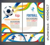 concept of soccer player with... | Shutterstock .eps vector #433404217