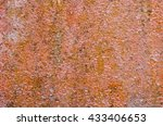rough and rusty old brown... | Shutterstock . vector #433406653