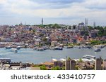 view of istanbul  | Shutterstock . vector #433410757
