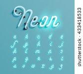 realistic neon character... | Shutterstock .eps vector #433418533