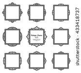decor elements or shape for... | Shutterstock .eps vector #433418737