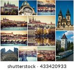 collage of beautiful prague... | Shutterstock . vector #433420933