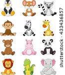 cartoon funny africa animal | Shutterstock . vector #433436857