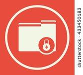 vector illustration of folder... | Shutterstock .eps vector #433450183