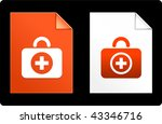 first aid kit on paper set... | Shutterstock .eps vector #43346716