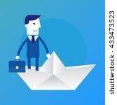 leader. business concept... | Shutterstock . vector #433473523