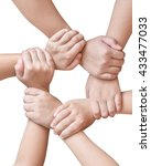 circle of friend's unity ... | Shutterstock . vector #433477033