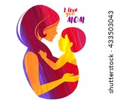 acrylic beautiful mother... | Shutterstock .eps vector #433503043