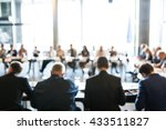 abstract blur business meeting  ...   Shutterstock . vector #433511827