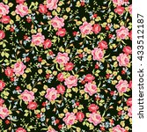 seamless floral pattern with... | Shutterstock .eps vector #433512187