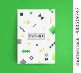 brochure cover design. chaotic... | Shutterstock .eps vector #433519747