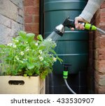 rainwater tank or water butt ... | Shutterstock . vector #433530907