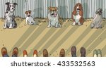 dog training breeds and owner... | Shutterstock .eps vector #433532563