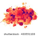acrylic colors in water and... | Shutterstock . vector #433551103