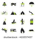 active recreation simply icons... | Shutterstock .eps vector #433557457
