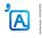 a letter logo in square with...