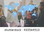 marketing business worldwide... | Shutterstock . vector #433564513