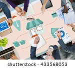 money cash flow economic... | Shutterstock . vector #433568053