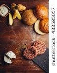 hamburger ingredients in a... | Shutterstock . vector #433585057