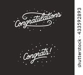 congratulations. hand lettering ... | Shutterstock .eps vector #433592893
