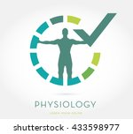 man's silhouette with open arms ... | Shutterstock .eps vector #433598977
