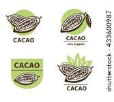 cacao logo. cacao bean sign.... | Shutterstock .eps vector #433600987