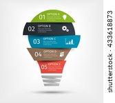 modern light bulb infographic.... | Shutterstock .eps vector #433618873