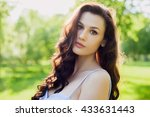 a portrait of a beautiful young ... | Shutterstock . vector #433631443