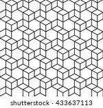 black seamless geometric box... | Shutterstock . vector #433637113