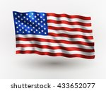 illustration of waving usa flag ... | Shutterstock .eps vector #433652077