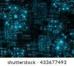 best internet concept of global ... | Shutterstock . vector #433677493