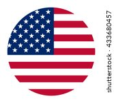 simple vector button flag   usa | Shutterstock .eps vector #433680457