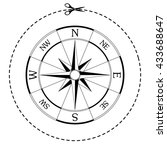 wind rose compass vector icon | Shutterstock .eps vector #433688647