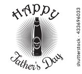 father's day card. happy father'... | Shutterstock . vector #433696033