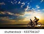empty space. sporty friends on... | Shutterstock . vector #433706167