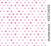 pink hearts pattern | Shutterstock .eps vector #433714033