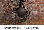 Metallic Rusty Wrecking Ball O...