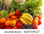 fresh fruits and vegetables | Shutterstock . vector #433719517