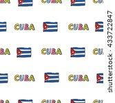 cuba flag banner color word... | Shutterstock .eps vector #433722847