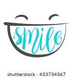 smile brush lettering... | Shutterstock .eps vector #433734367