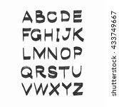 vector hand drawn alphabet... | Shutterstock .eps vector #433749667