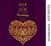 wedding card  invitation card ...   Shutterstock .eps vector #433760533